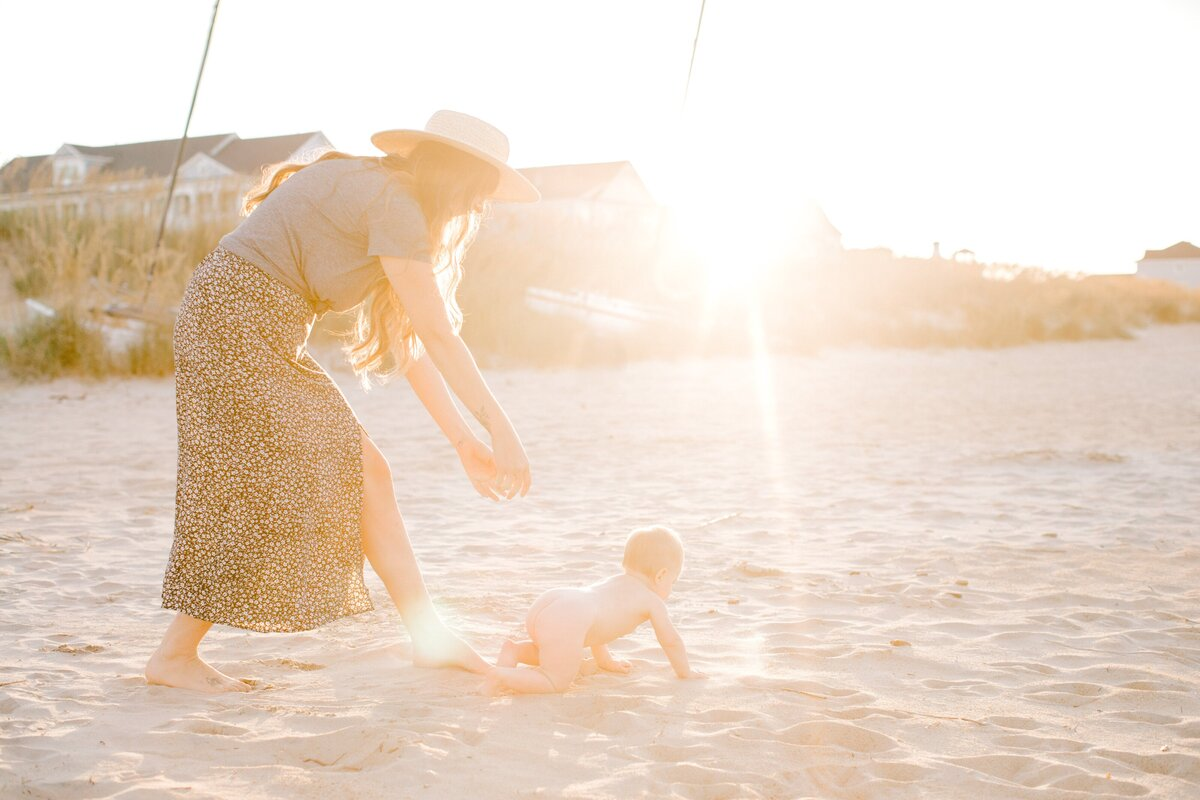 I&S 10 Month Old Baby Boho Mother Daughter Photos Norfolk VA East Beach Tianna Yentzer Photography-55
