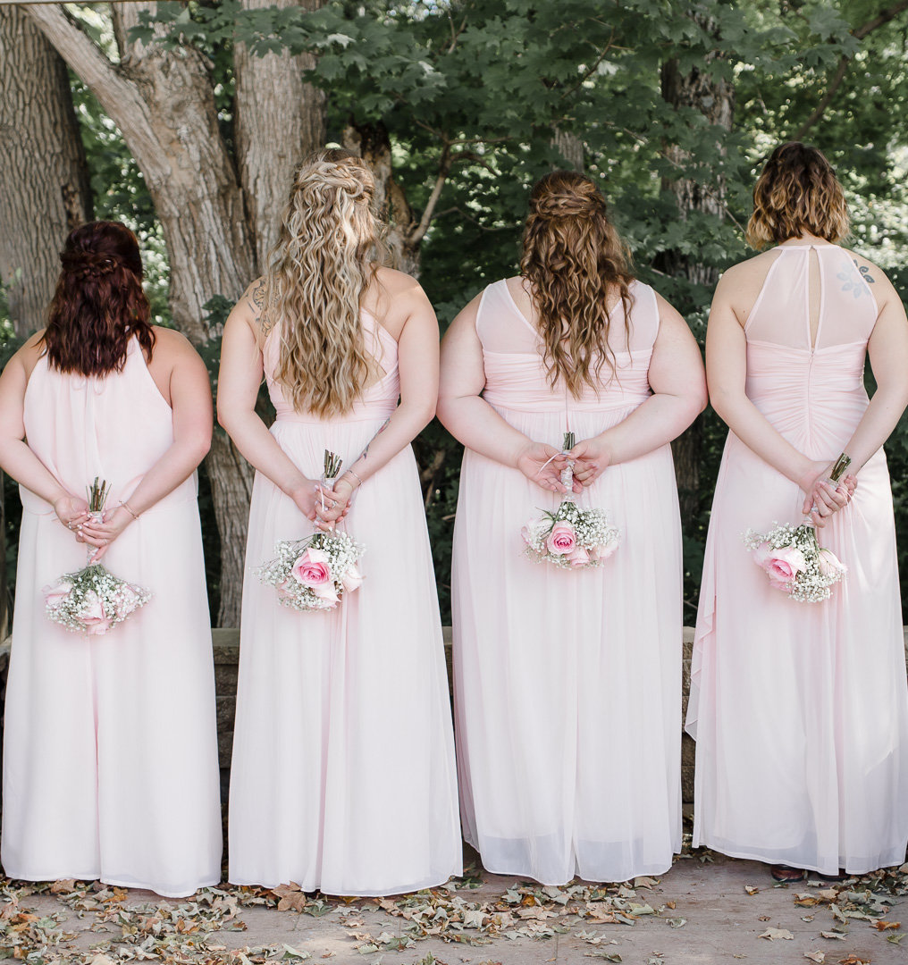 bridesmaids on a wedding day
