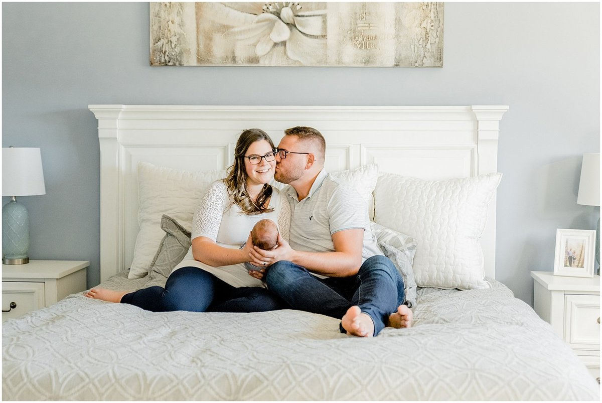 hamilton-ontario-newborn-family-session-in bedroom-with-new-parents
