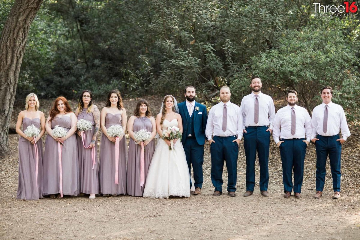 Oak Canyon Nature Center Wedding Anaheim California Bridal Party wedding photographer Ceremony Bride and Groom_1