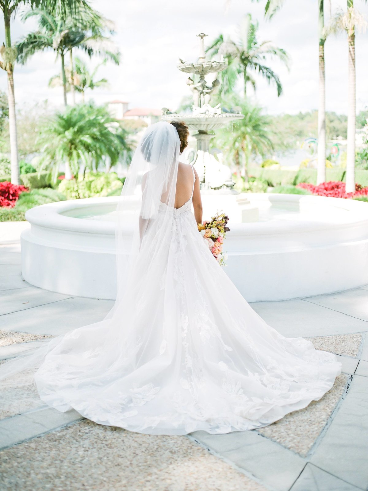Bridal Portraits in front of fountain