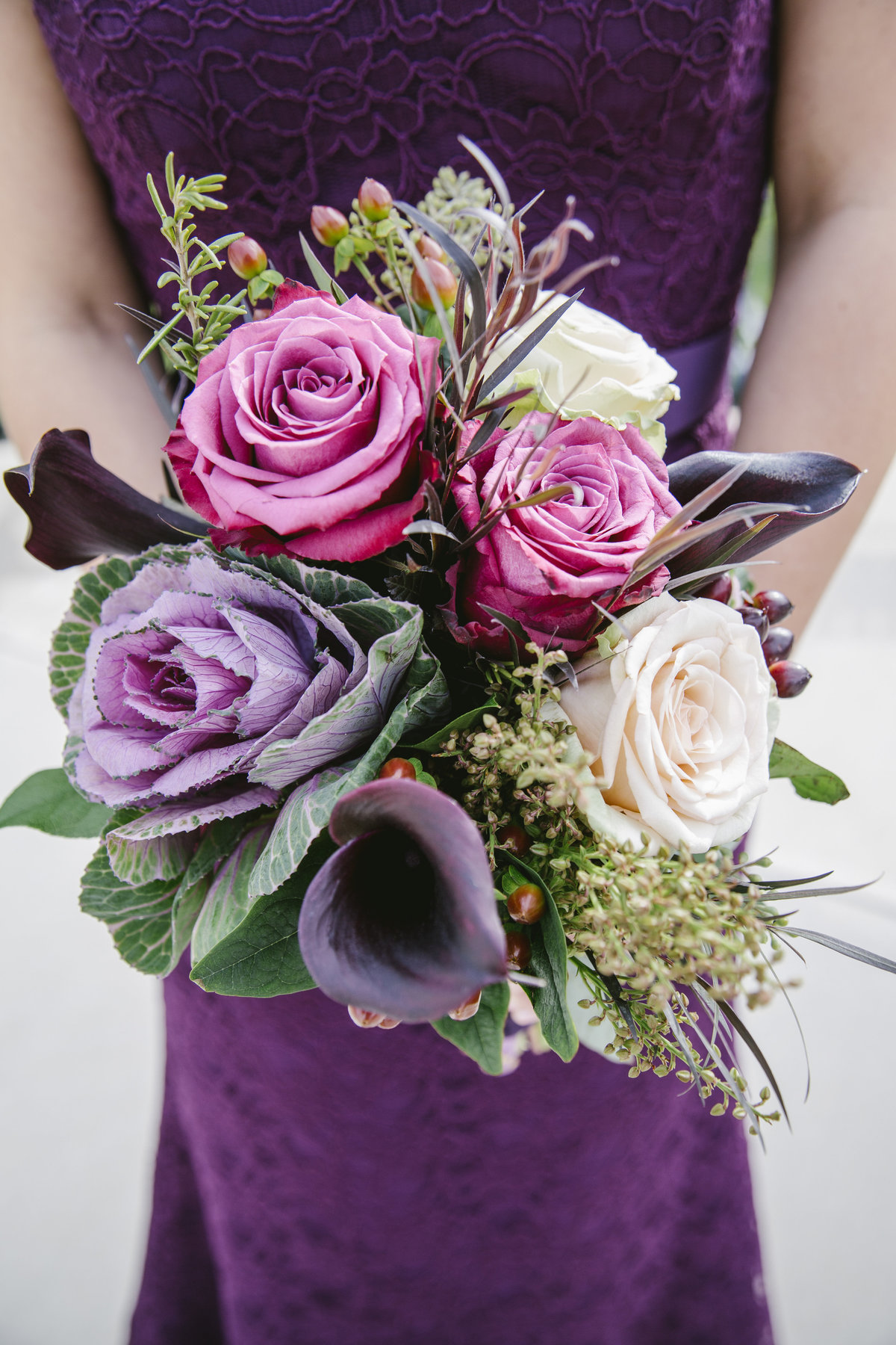 bridesmaids flowers for shadowbrook at shrewsbury wedding