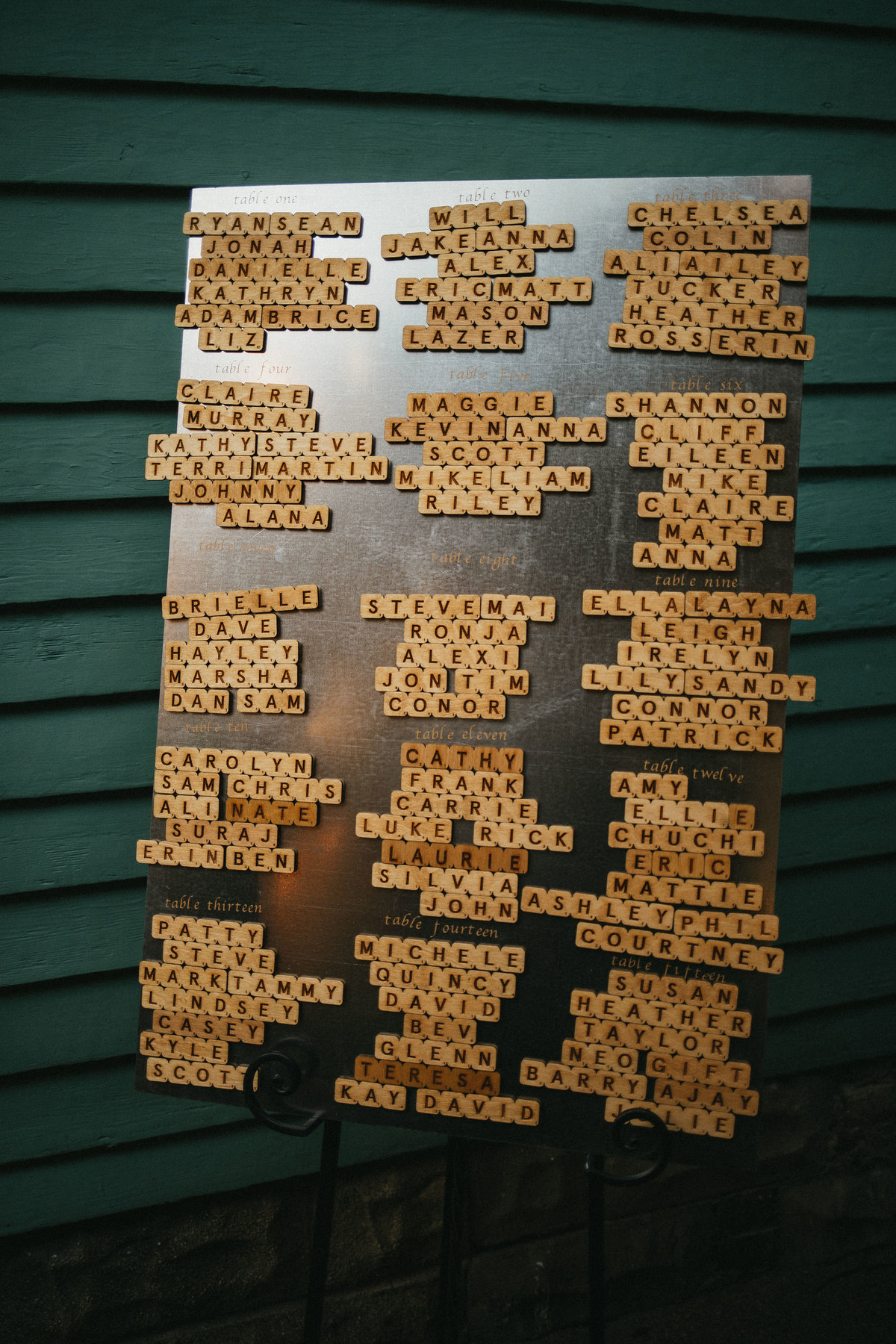 seating chart idea magnetic scrabble