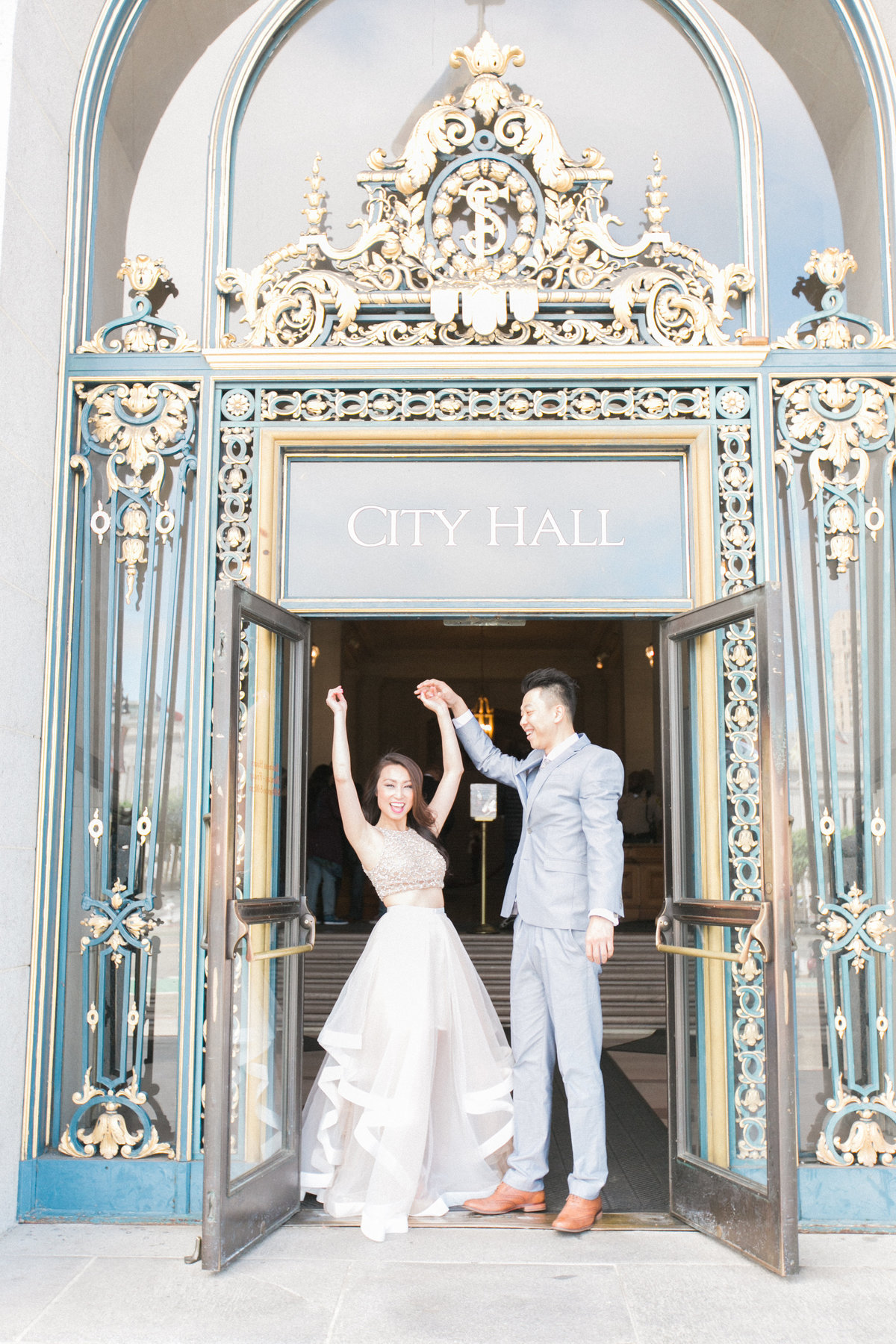 Just Married SF City Hall Wedding Photography