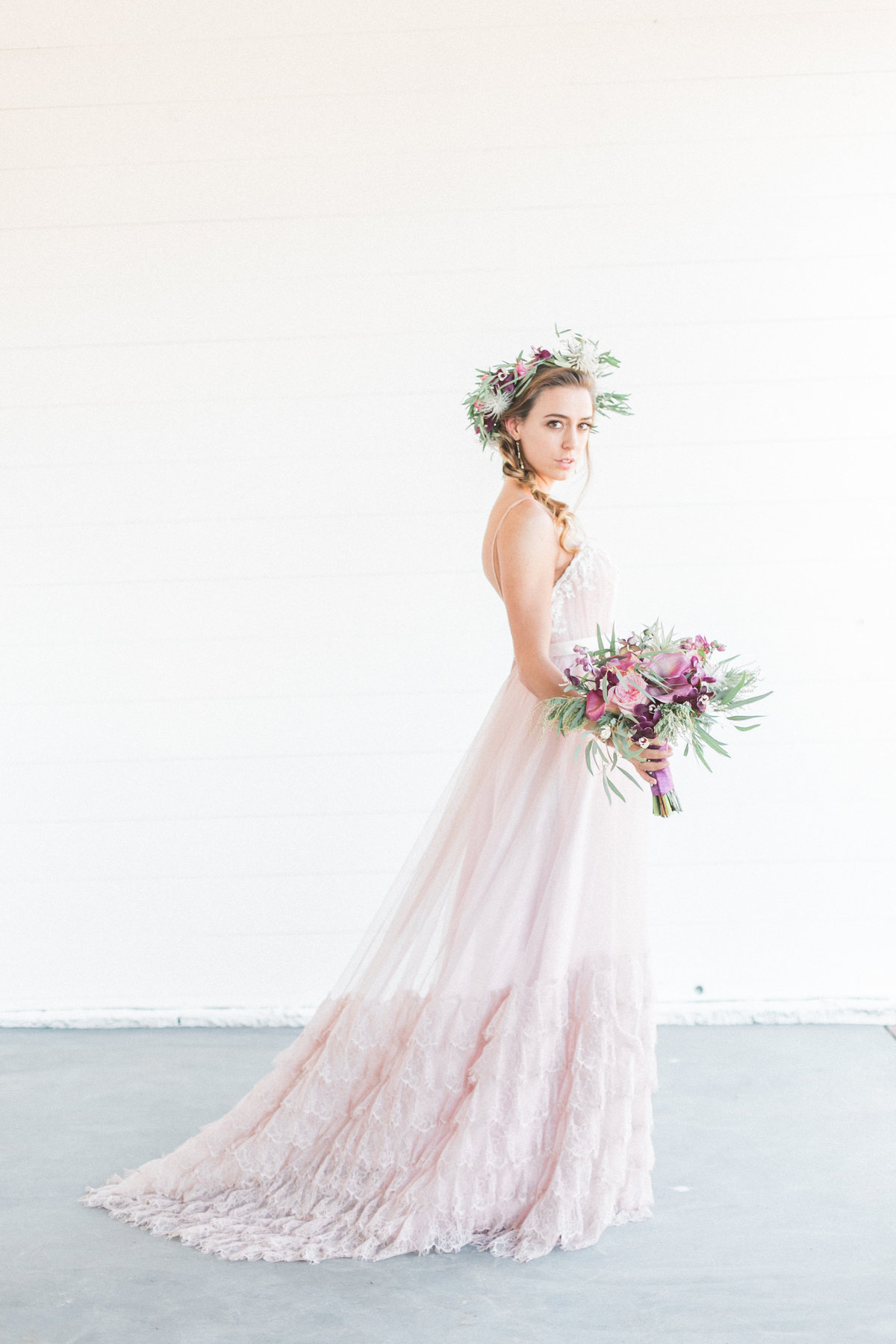 Julee Blush Rose Wedding Dress