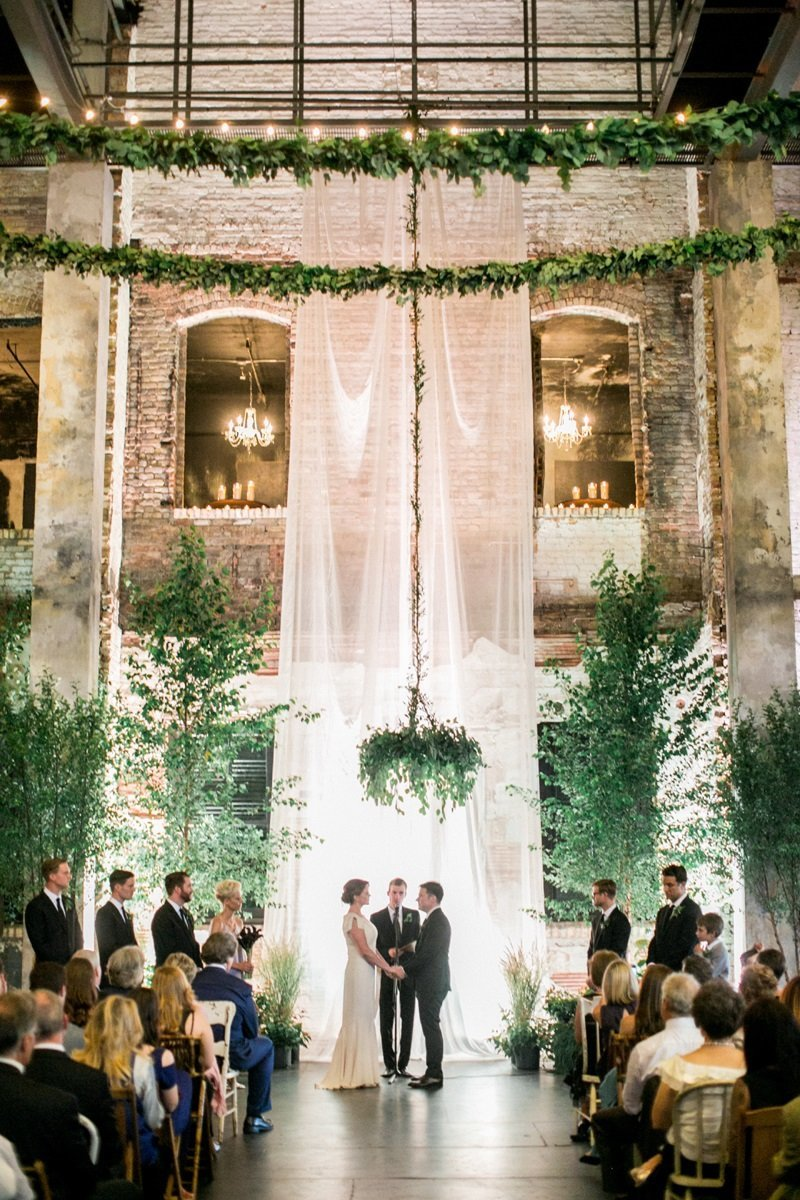 hanging greenery chandelier