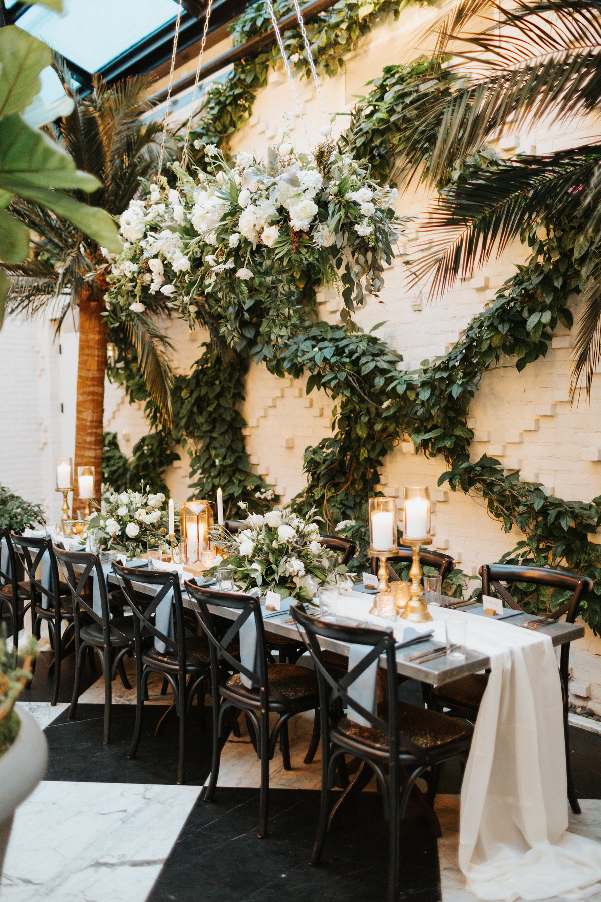 Elegant Modern Greenery White Wedding