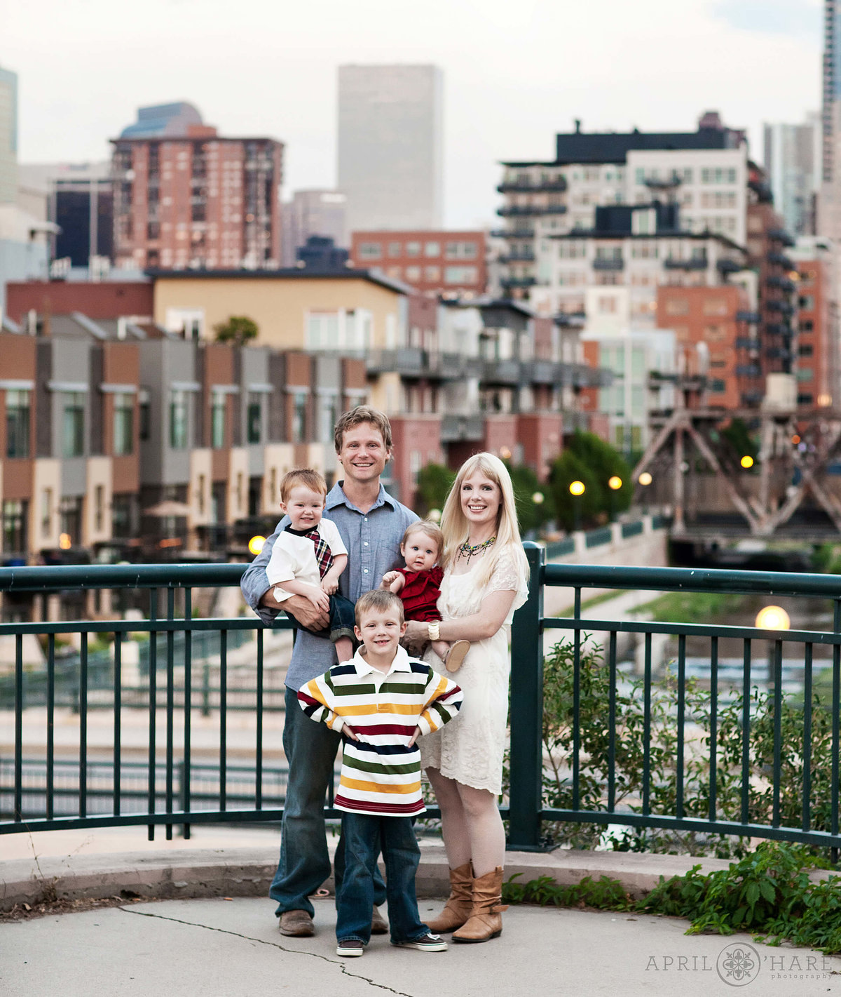 City of Denver Family Photos near REI and Confluence Park