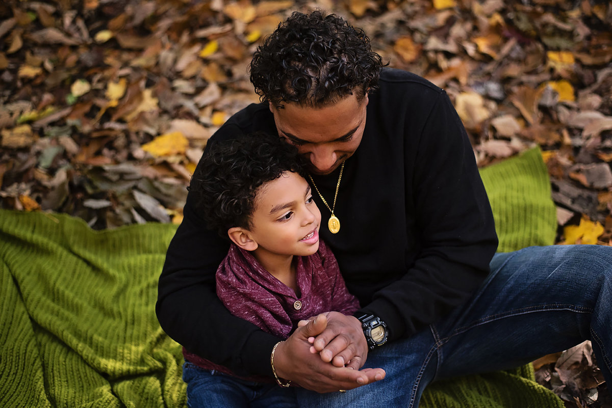 Sweet father and son portrait at Lubber Run Park in Arlington Virginia by Sarah Alice Photography