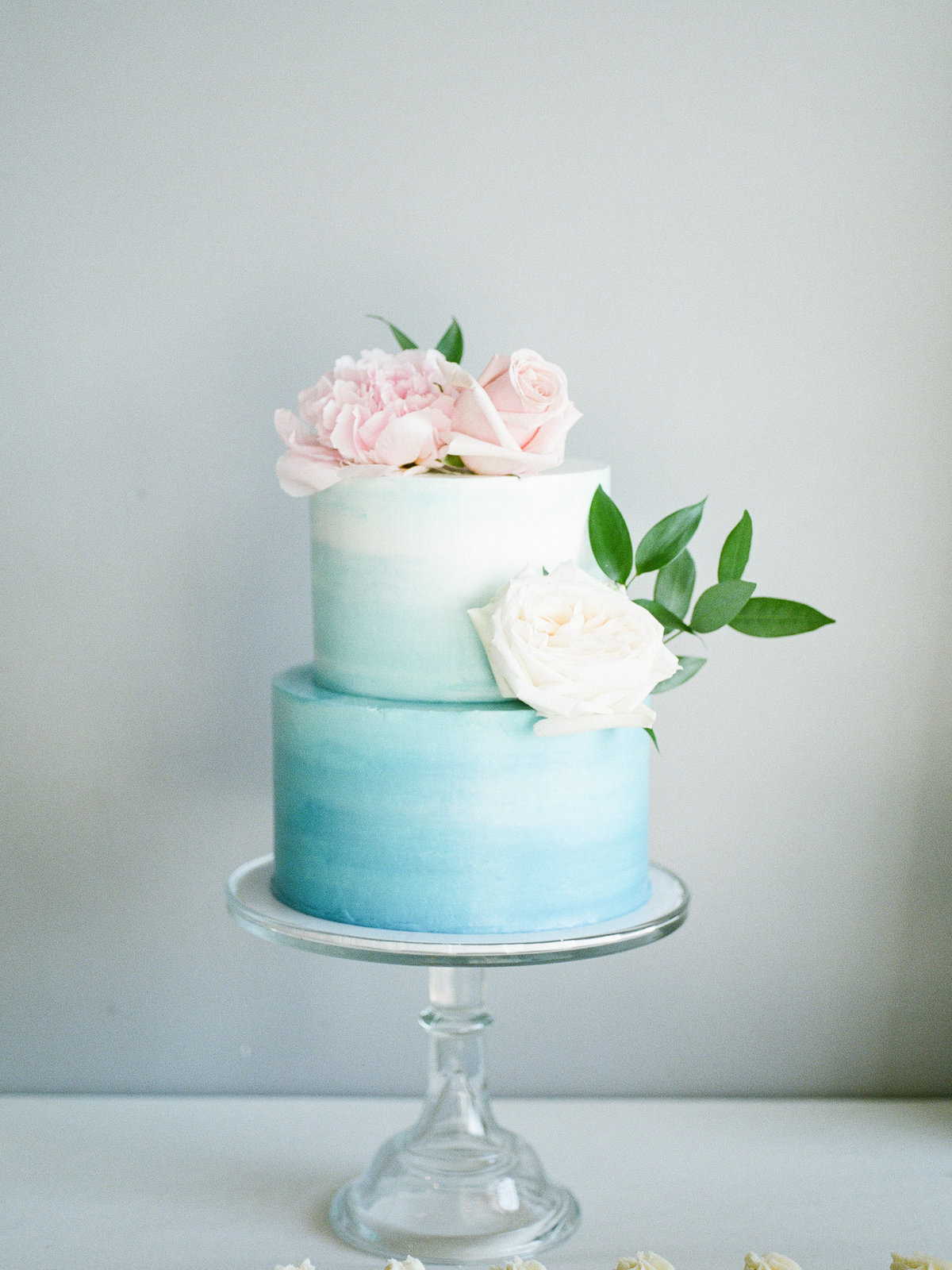 watercolor cake flowers