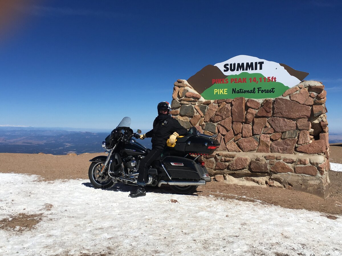 Harry Farthing on the top of Pike's Peak, Colorado