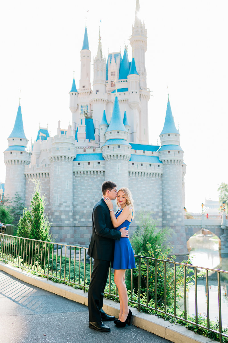 Orlando Engagement Photographer | Disney Magic Kingdom Engagement Session | Enagement at Disney-4