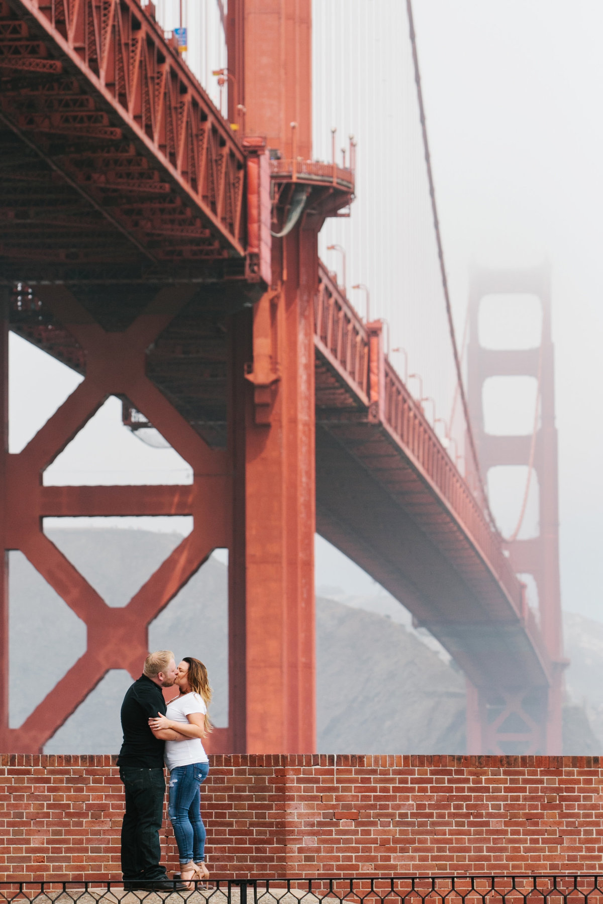 San Francisco engagement session at Golden Gate Bridge