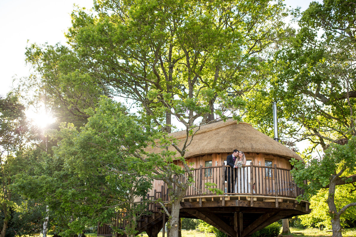 deer park treehouse wedding photo devon