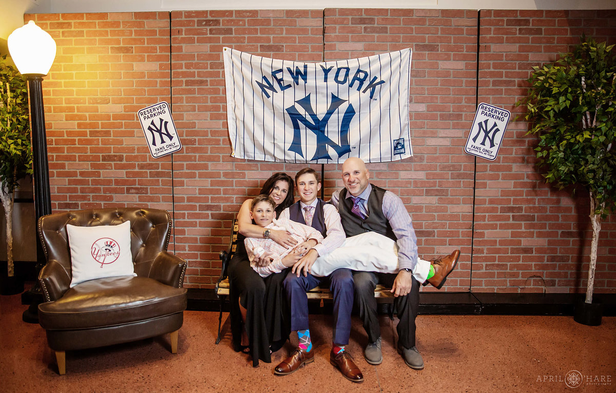 New York Yankees themed bar mitzvah at Coors Field in Denver Colorado