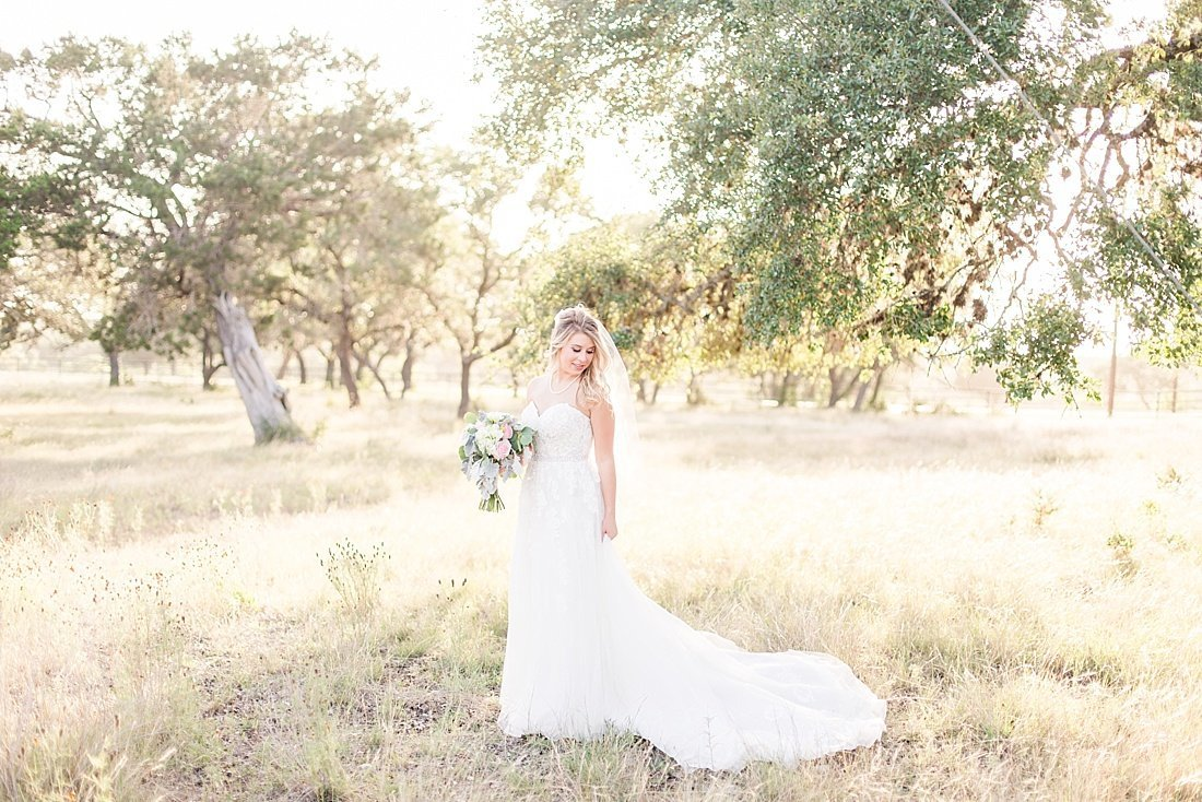 Hill country bridal session in Boerne texas at Cw Hill country ranch_0009
