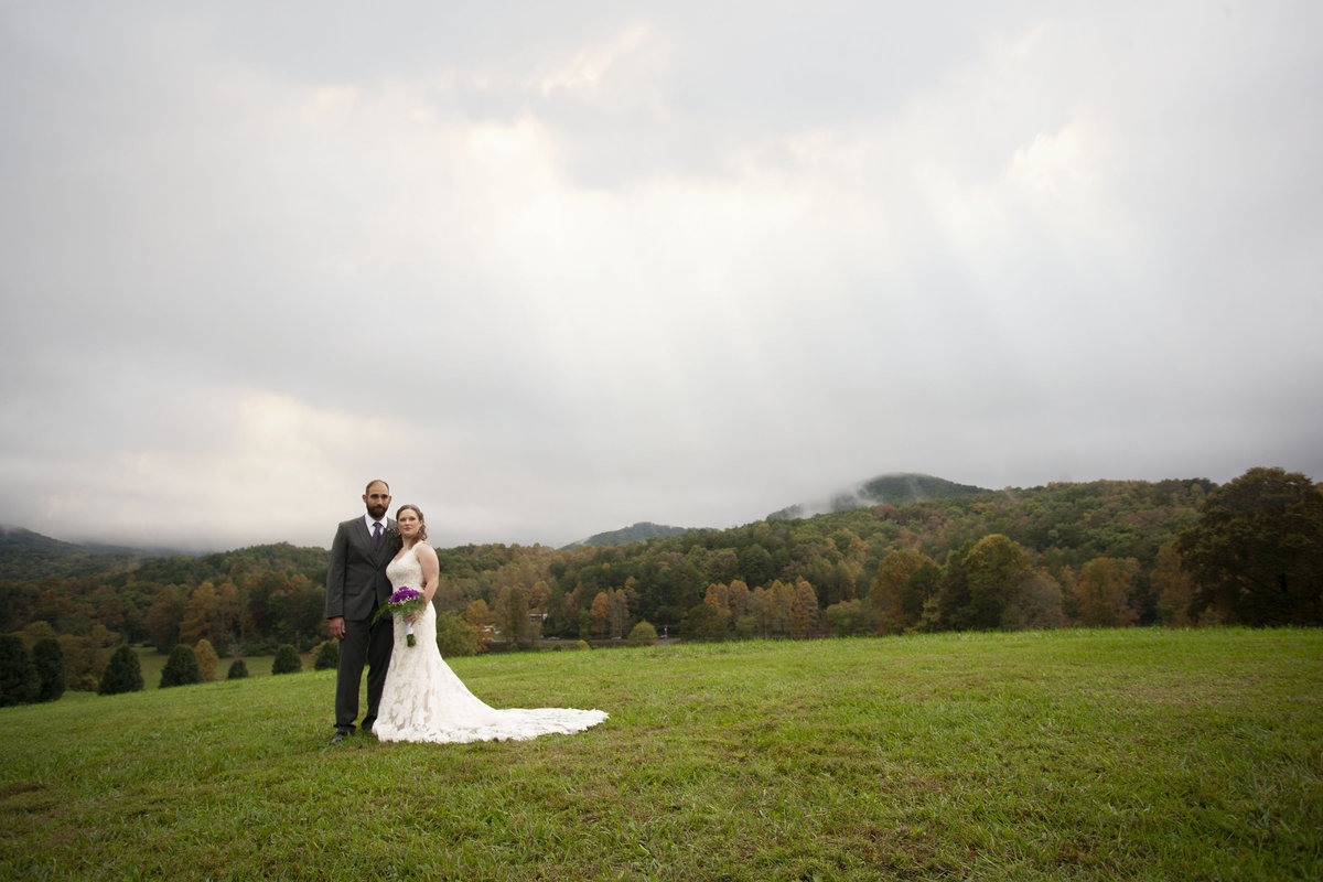 Bride and Groom Blue Ridge Mountains