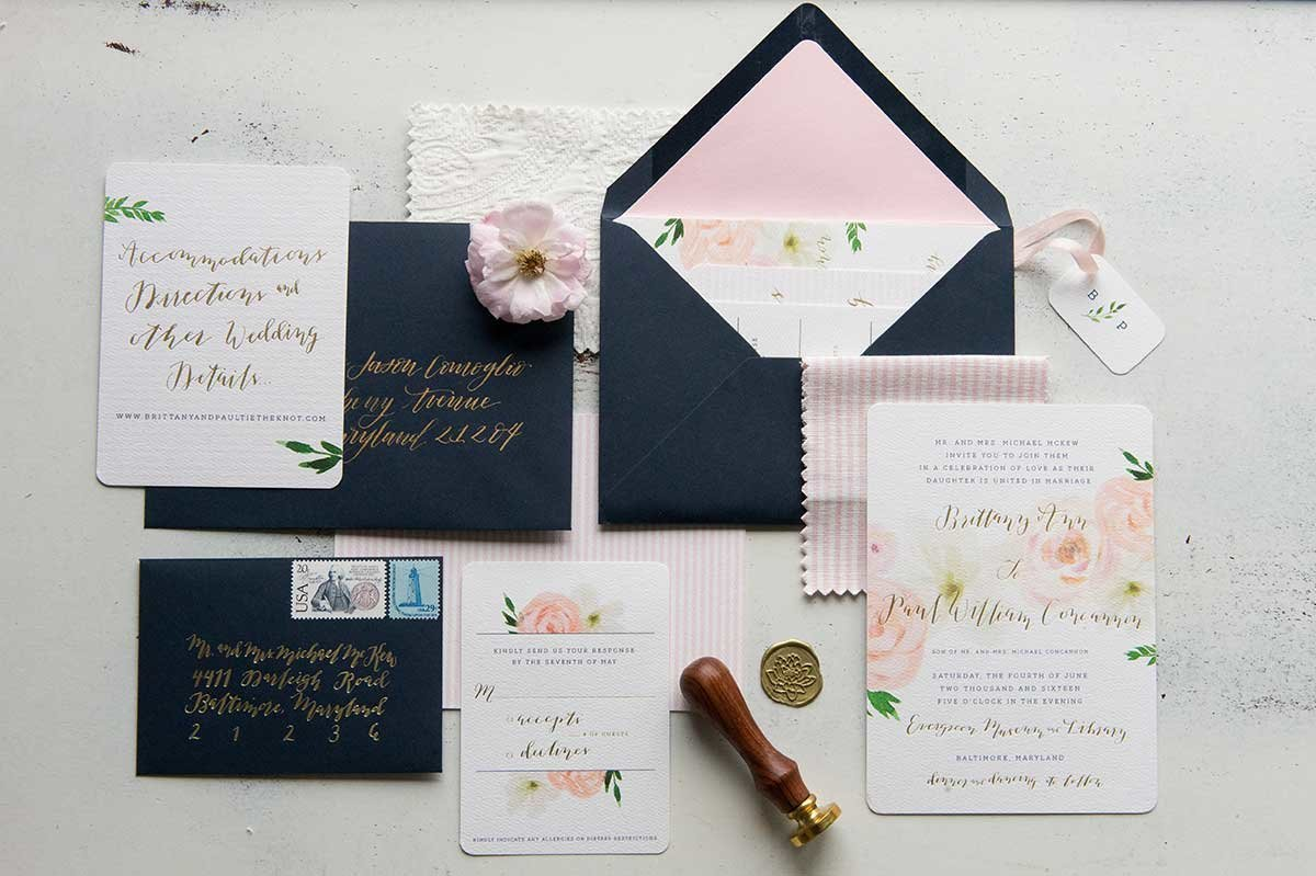 BrittanyPaul_FloralFoil-InvitationSuite-Evergreen