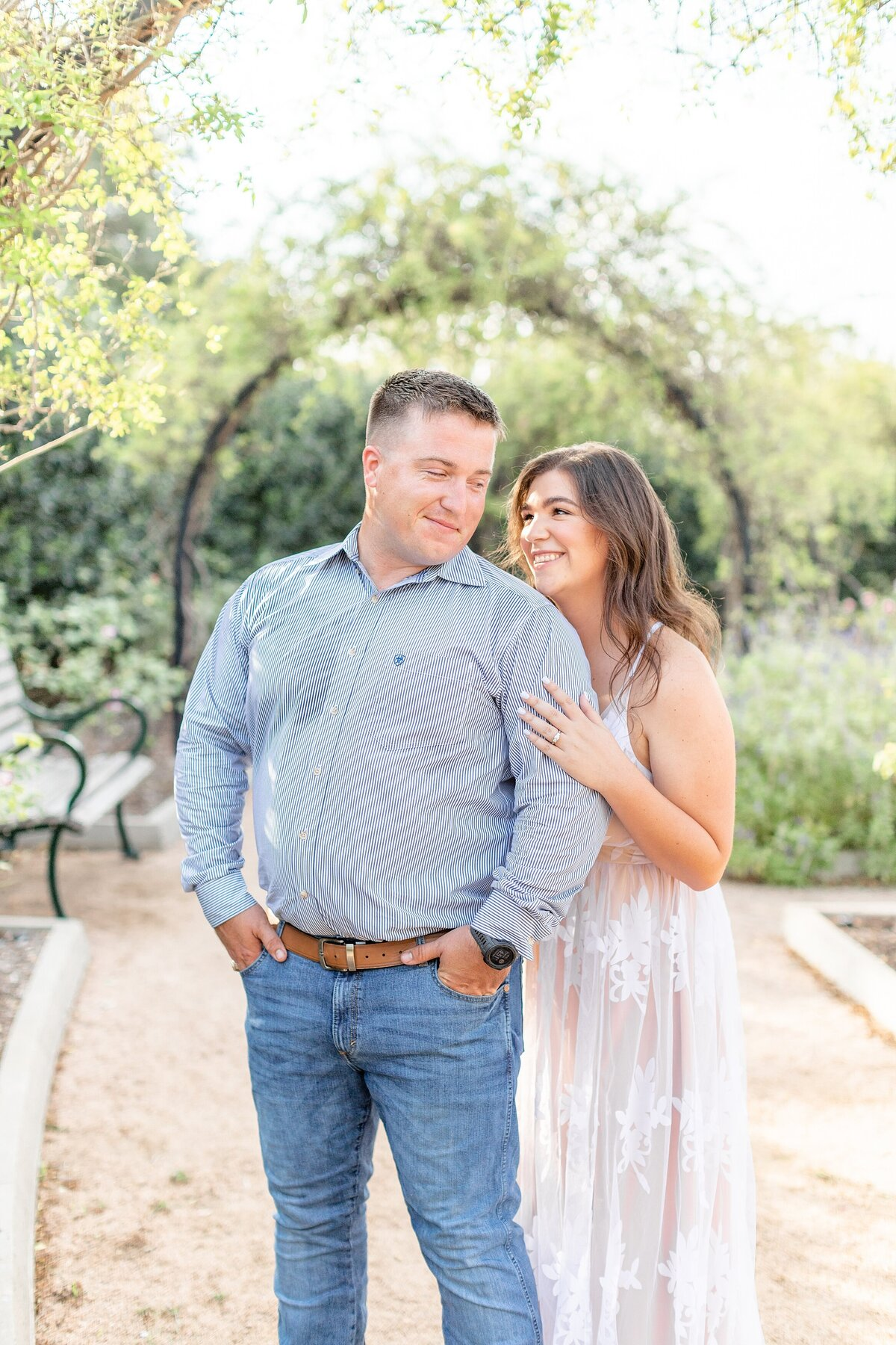 McGovern Centennial Gardens Engagement Photography Bright Airy Couple