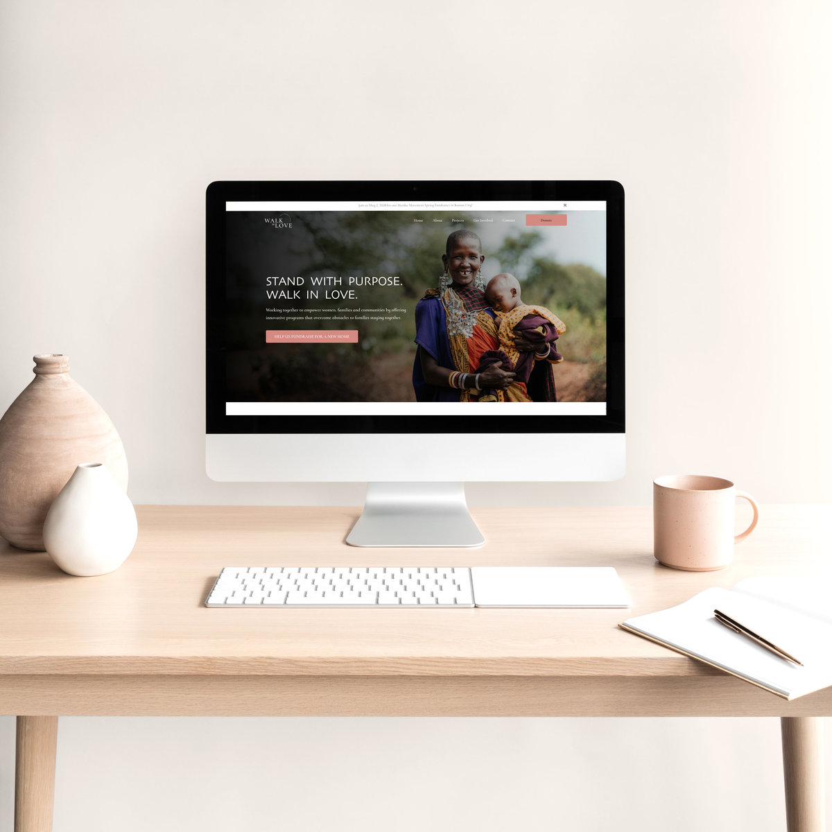 Walk in Love International | Branding + Website Design + Campaign Collateral | Studio Humankind