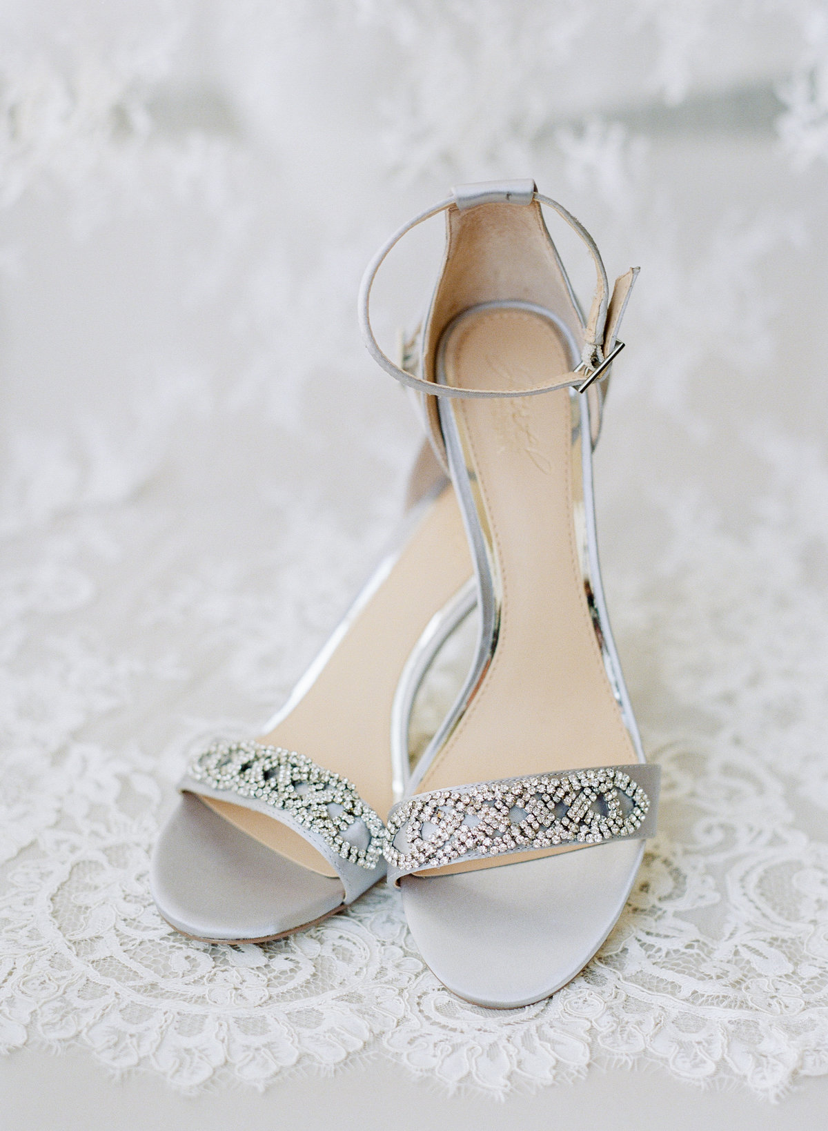 Bride's shoes Greystone at Piedmont Park wedding