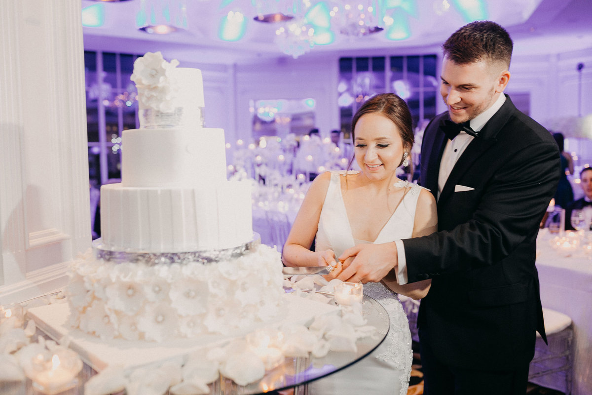 Westmount Country Club white modern New Jersey wedding 35