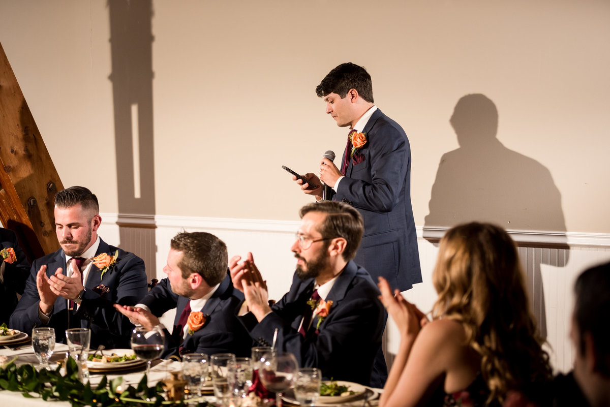 brother of groom giving a speech