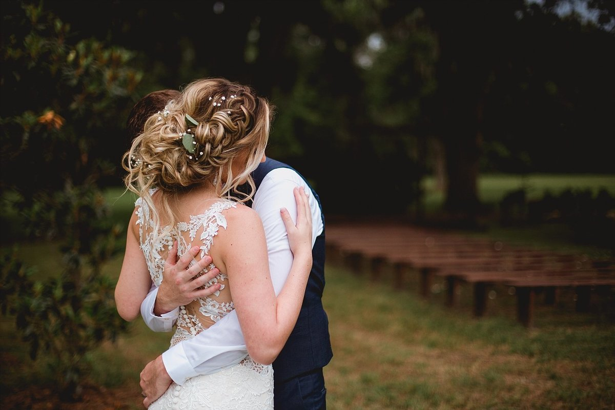 Intimate and natural bride and groom portraits at Clark Plantation, Gainesville, Florida.