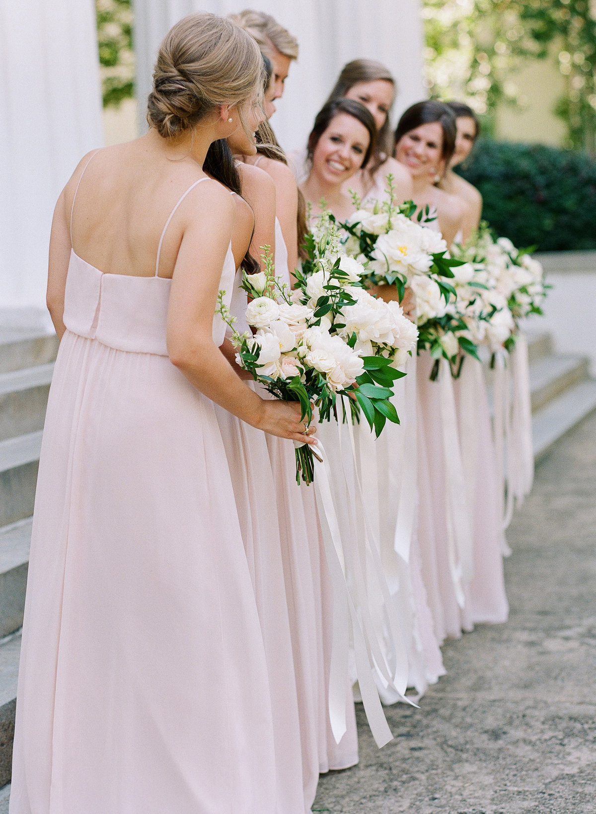 Blush Bridesmaids at UGA Chapel