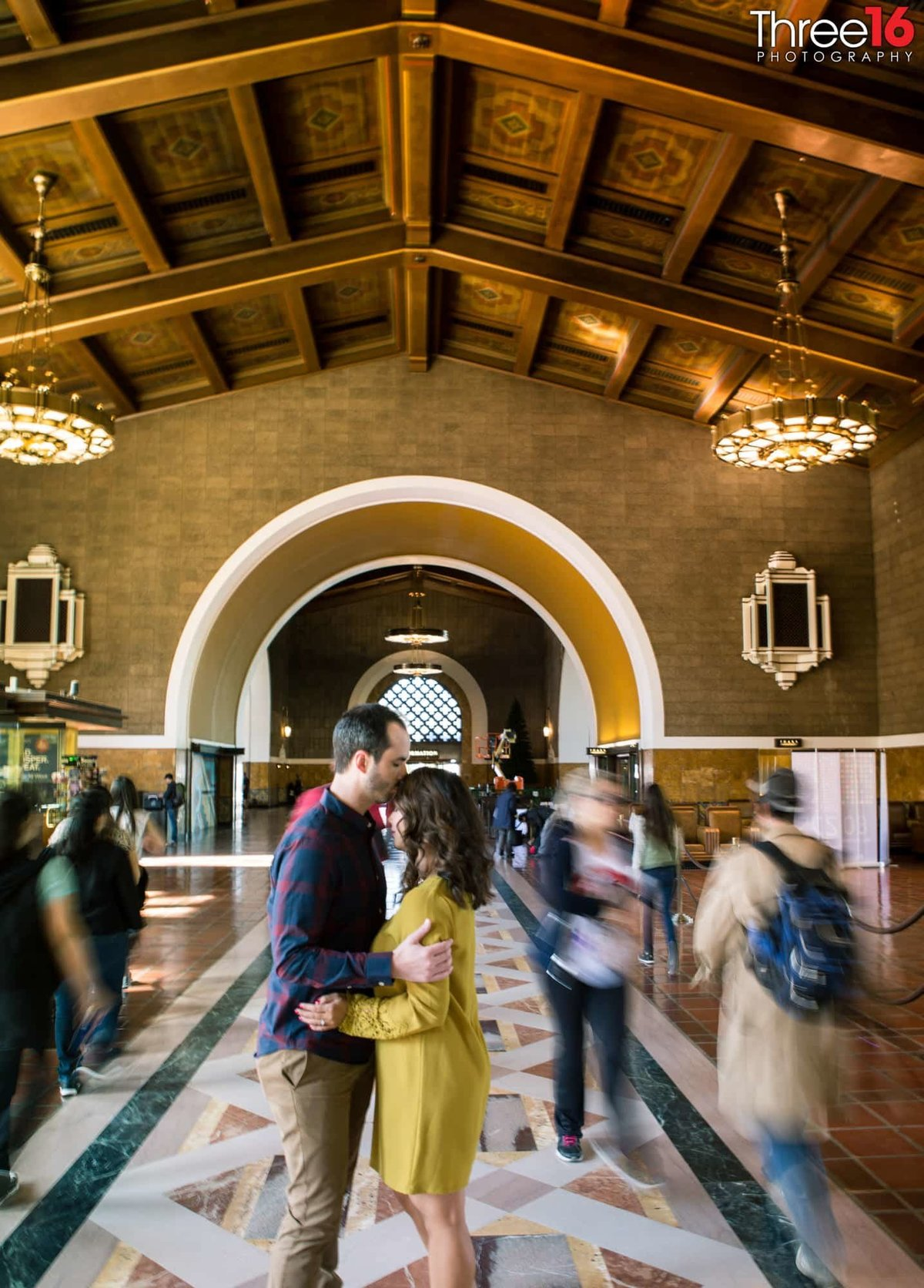 Los Angeles Union Station Engagement Photos LA County Wedding Professional Photographer Urban Unique