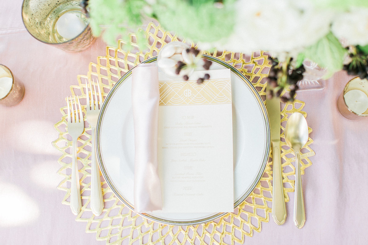 Blush Gold Table Setting Decor
