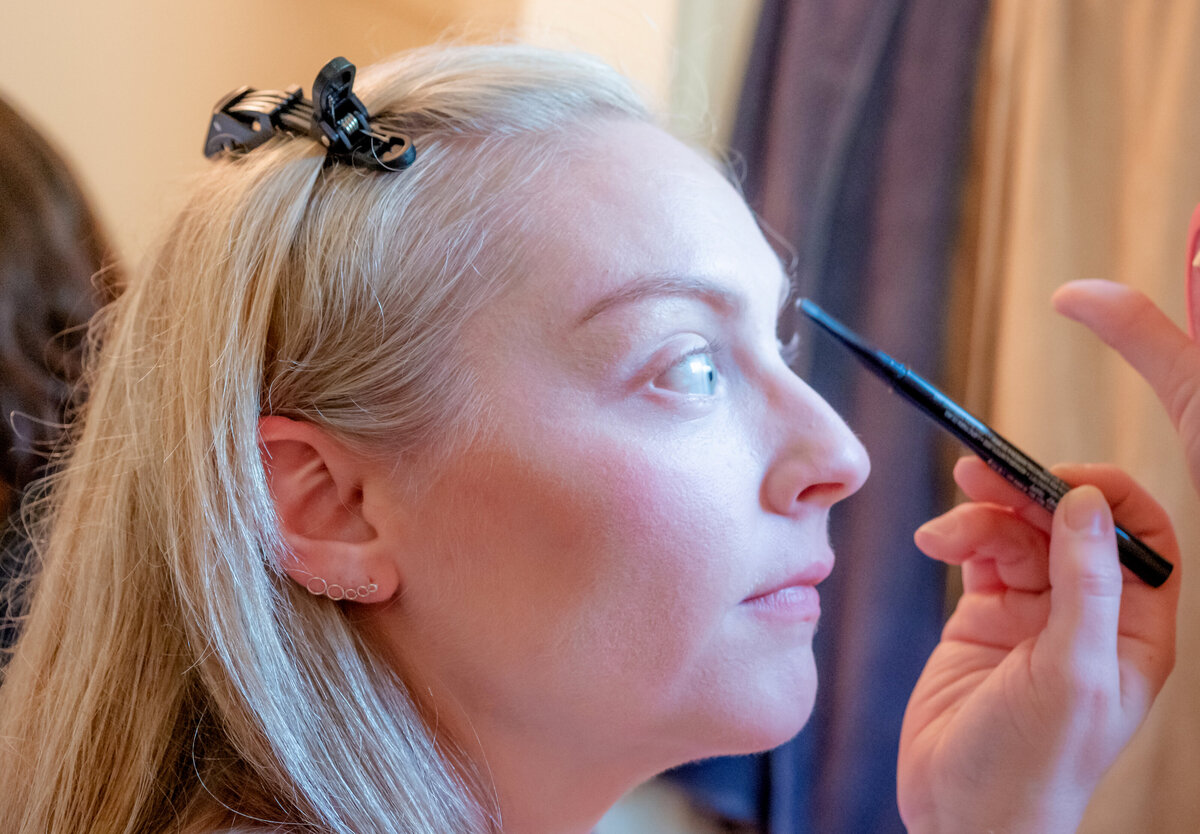 Boone Wedding Photography - Rhiannon and Chris - Bridesmaid Makeup 2 - Wilmington NC Photographers Team