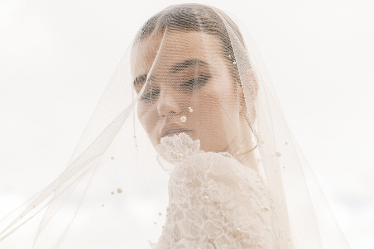 Bridal Portrait Editorial Photoshoot in Greece 14