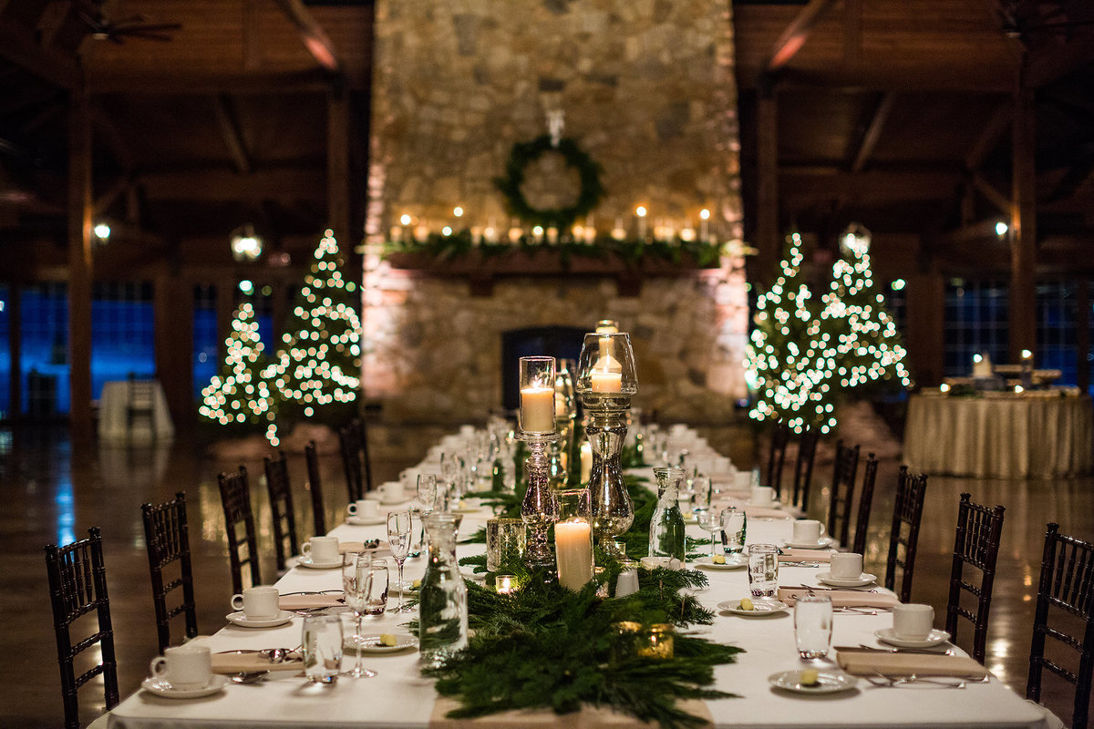 winter wedding reception at orchard ridge farms the pavilion in rockton illinois