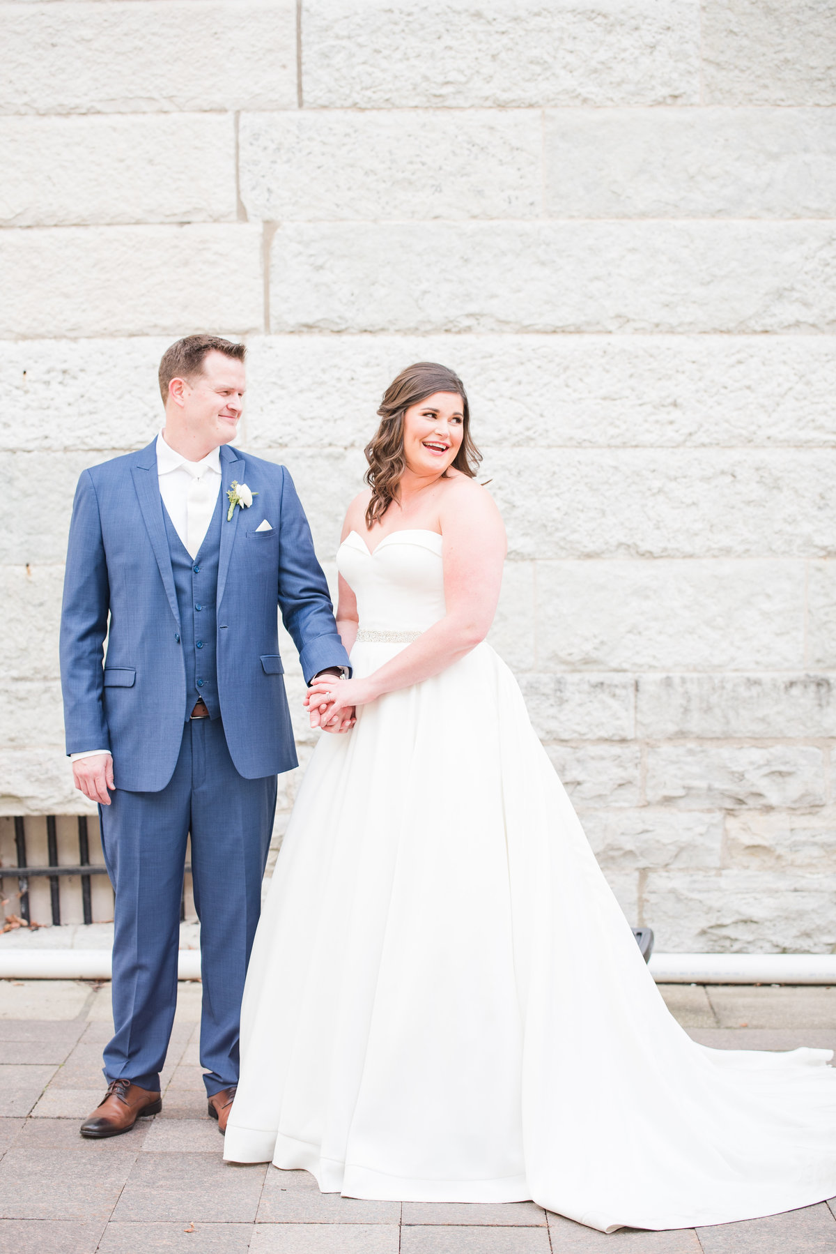 Newlywed Portraits Cait Potter Creative LLC Milltop Potters Bridge Noblesville Square Courthouse Wedding-28