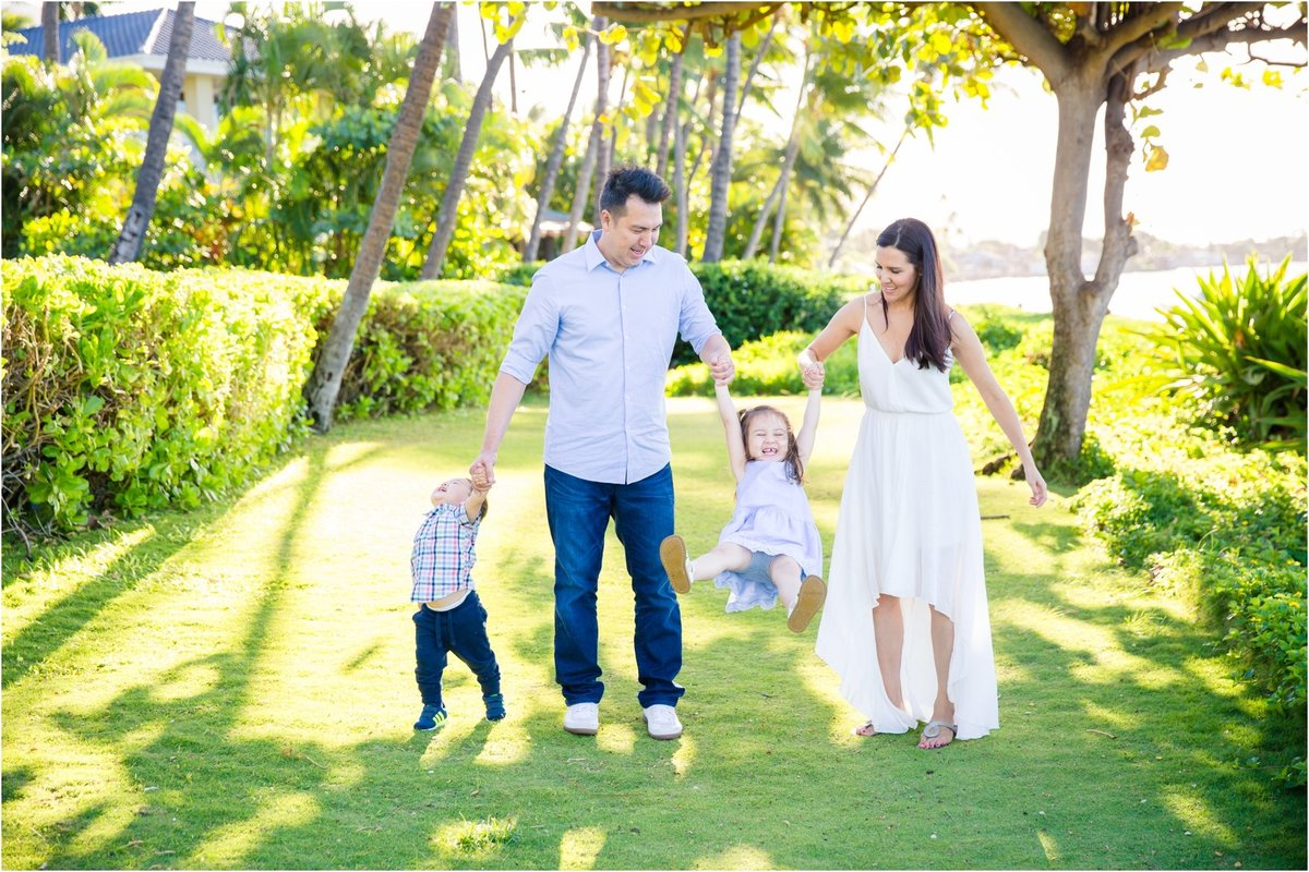 Maui Family Photography at Baby Beach in the morning