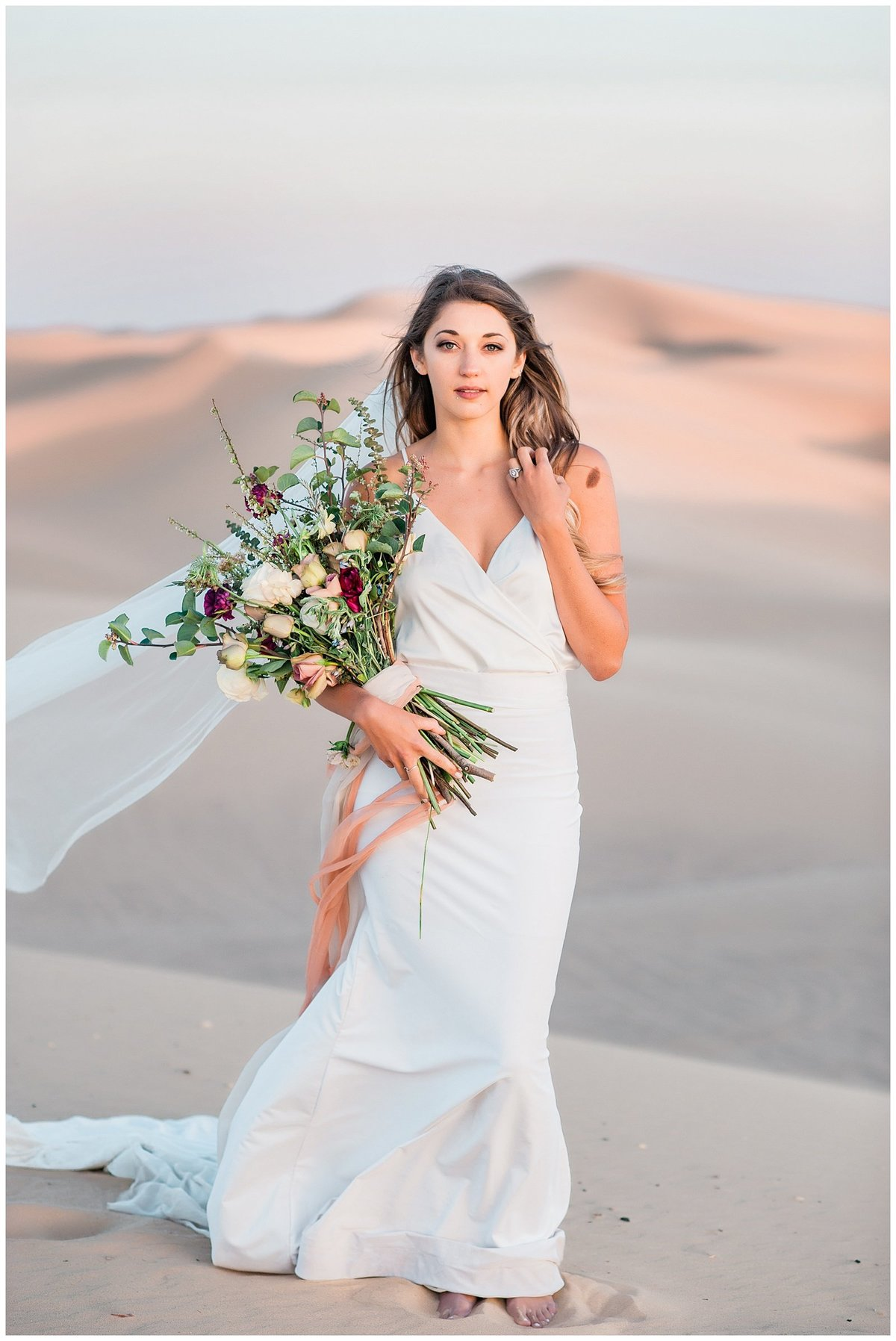 Glamis Desert Bohemian Wedding Styled elopement southern california sand dunes photo039