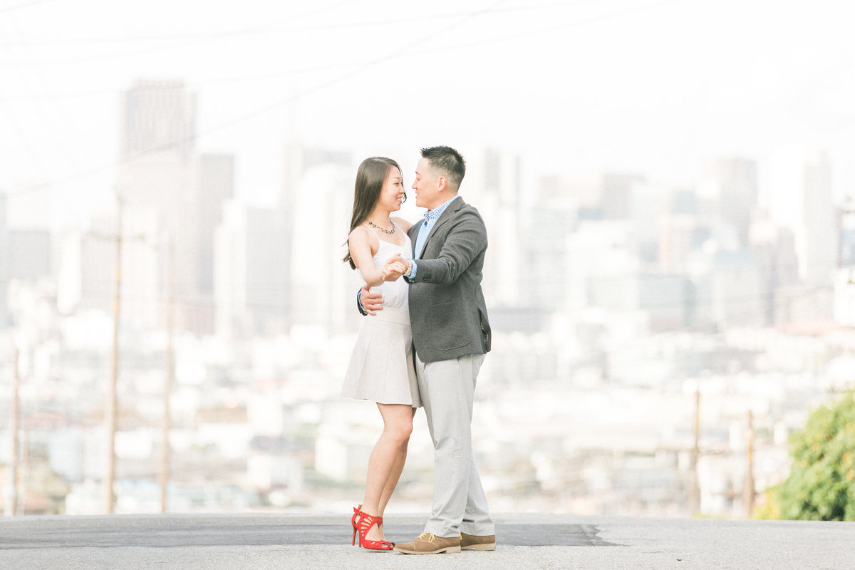 SF City View Engagement Session