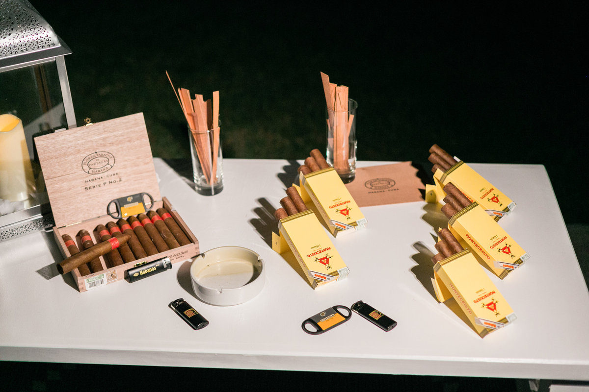 Cuban Cigar station at Barbados destination wedding