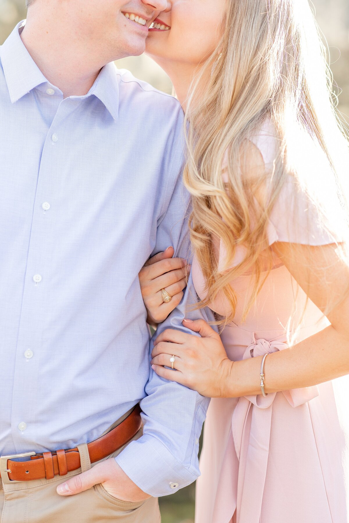 Houston Engagement Photography Sunset Bright and Airy Smiles