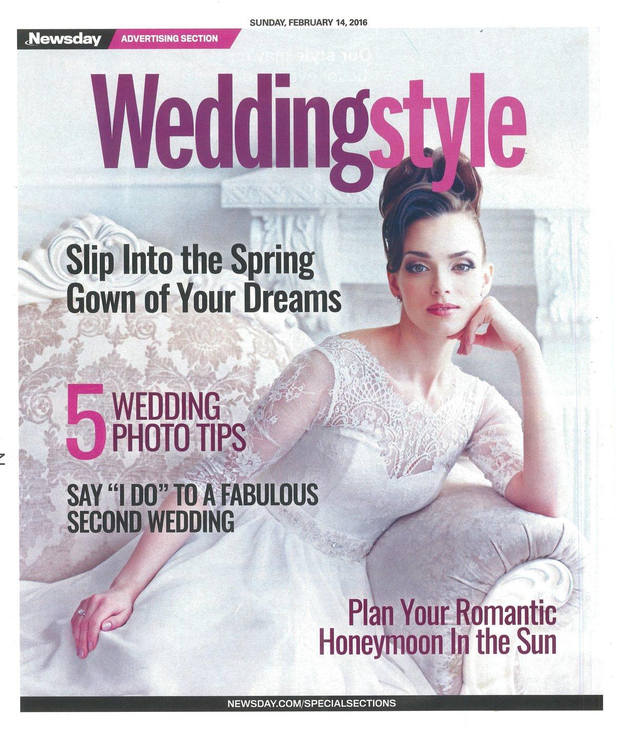 Newsday WeddingStyle February 14, 2016