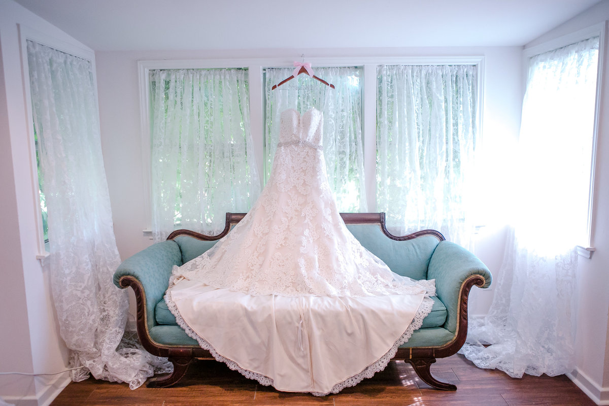 Austin Family Photographer, Tiffany Chapman Photography wedding dress on couch photo