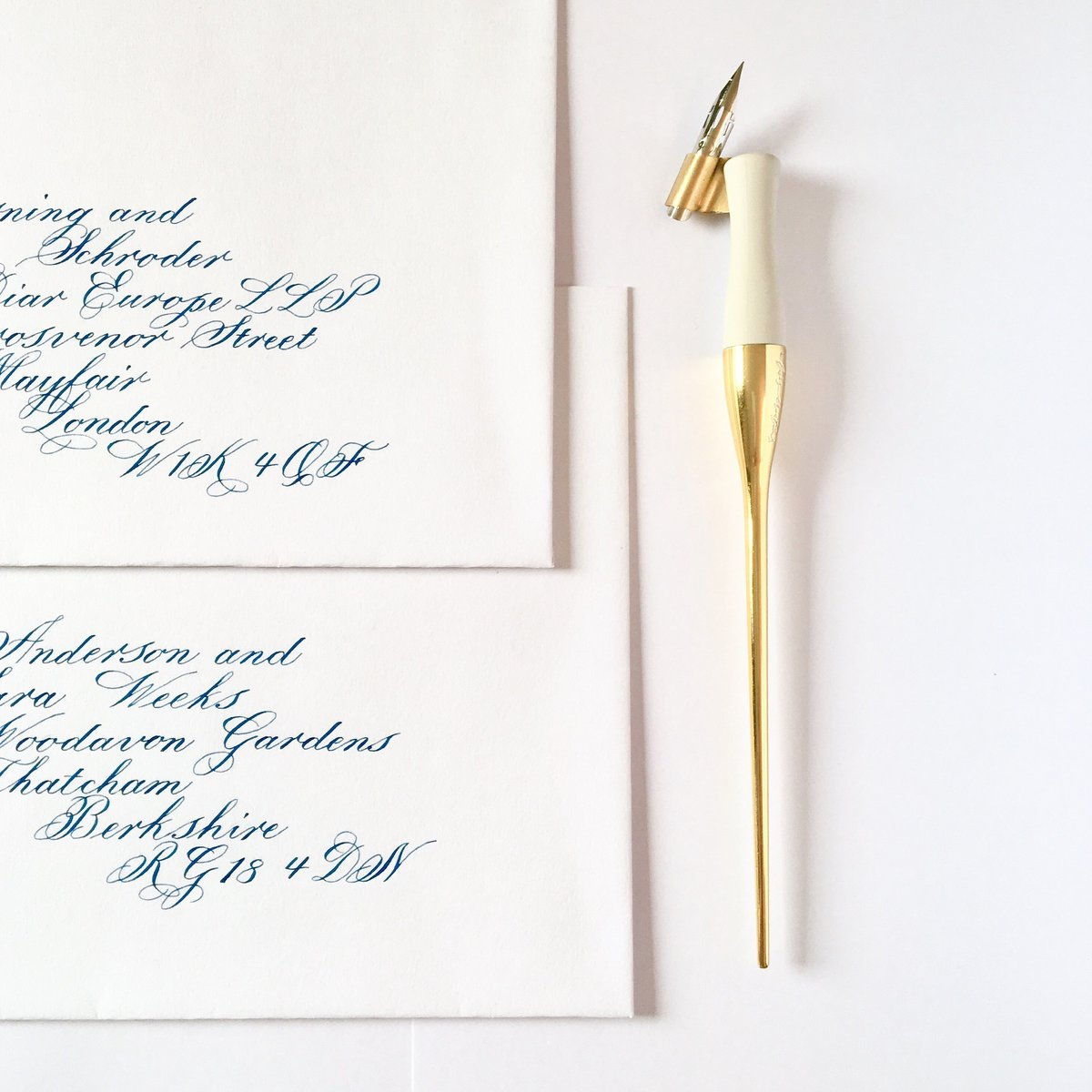 Royal Ascot Invitation Envelopes | Jenni Liandu Calligraphy