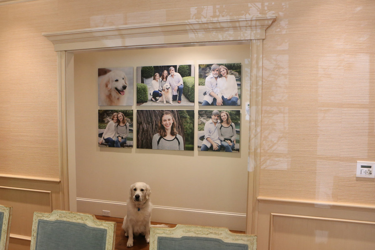 Wall Art Capturing a Family with Finished Products