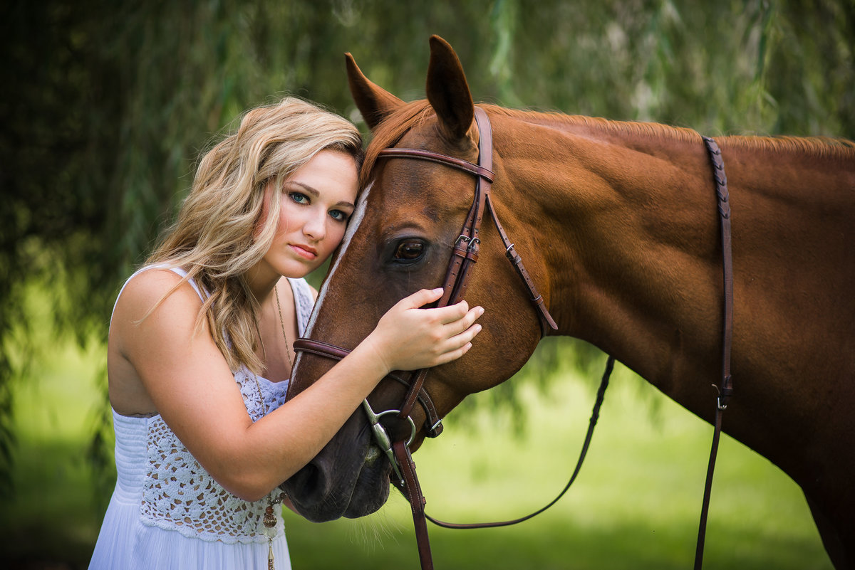 Senior Session with Horse
