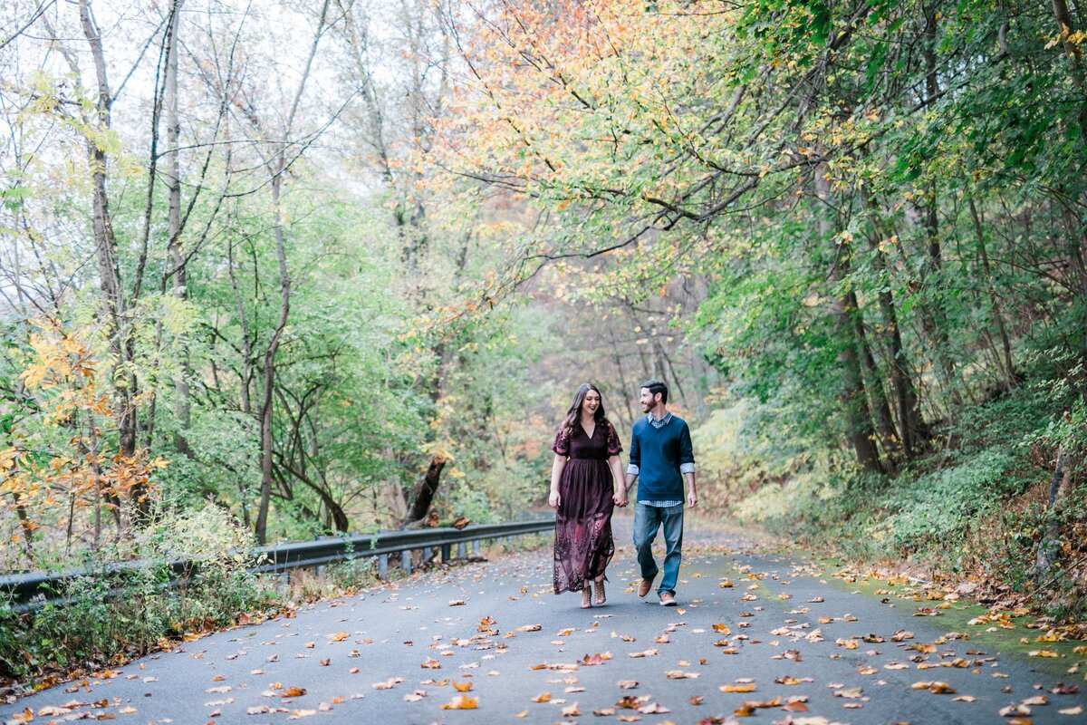 Fall engagement session ideas near Lancaster PA