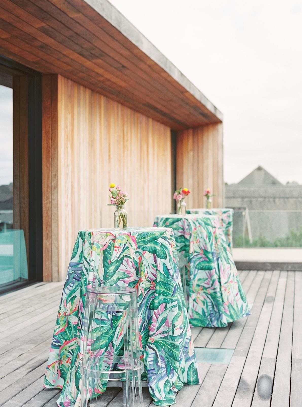 Tropical linen for Moana party