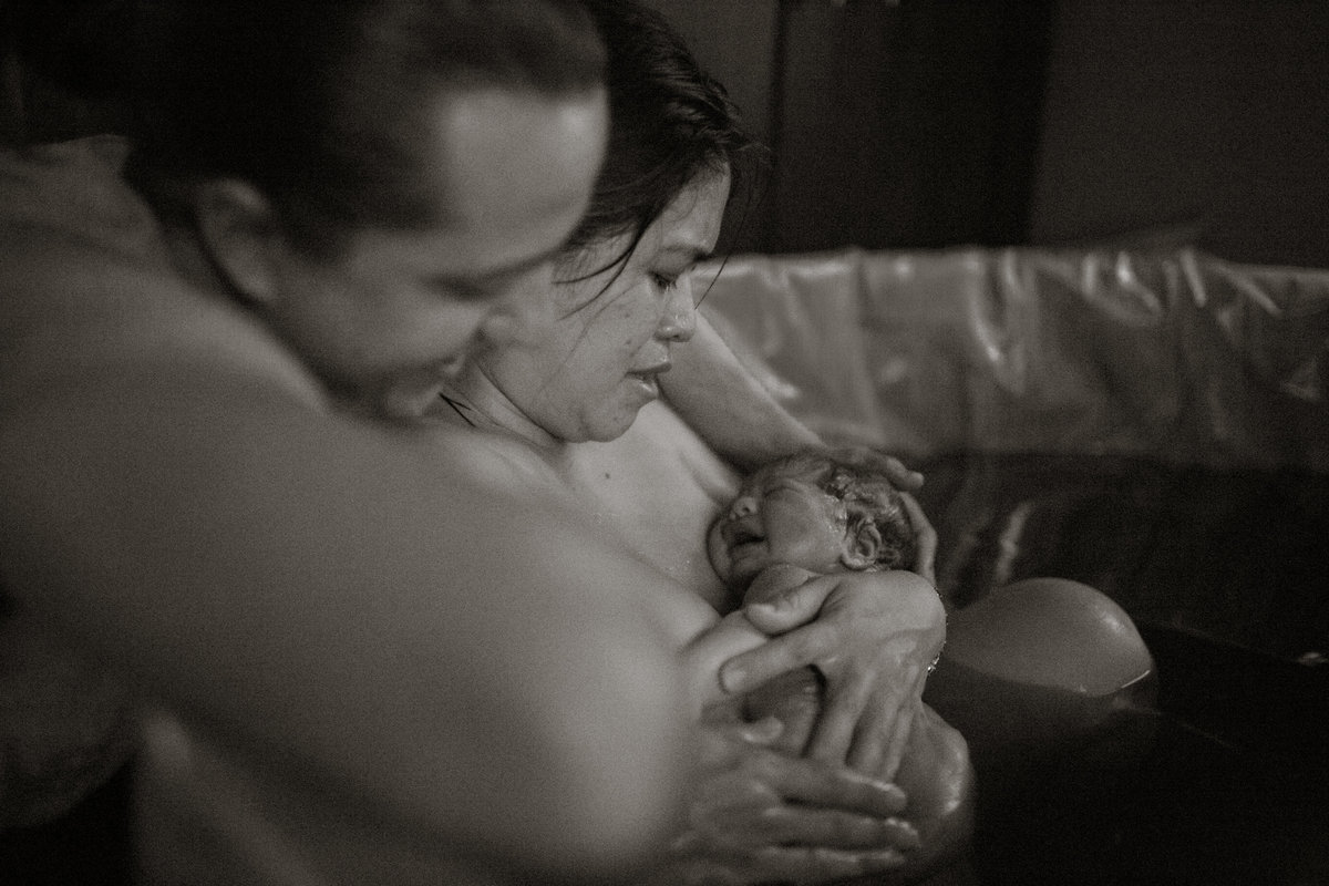 Mariza Dovis Birth 3.2.16 Black & White 63
