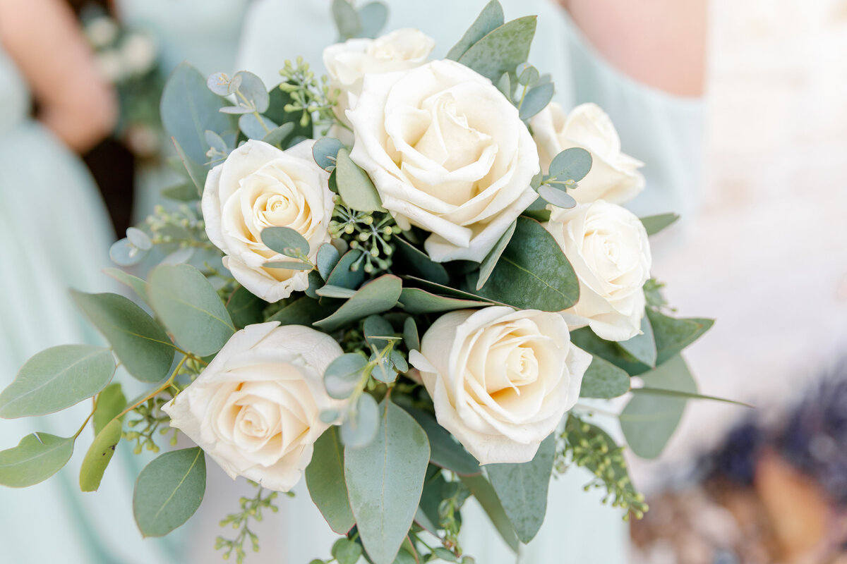 Elegant White Rose Bouquet