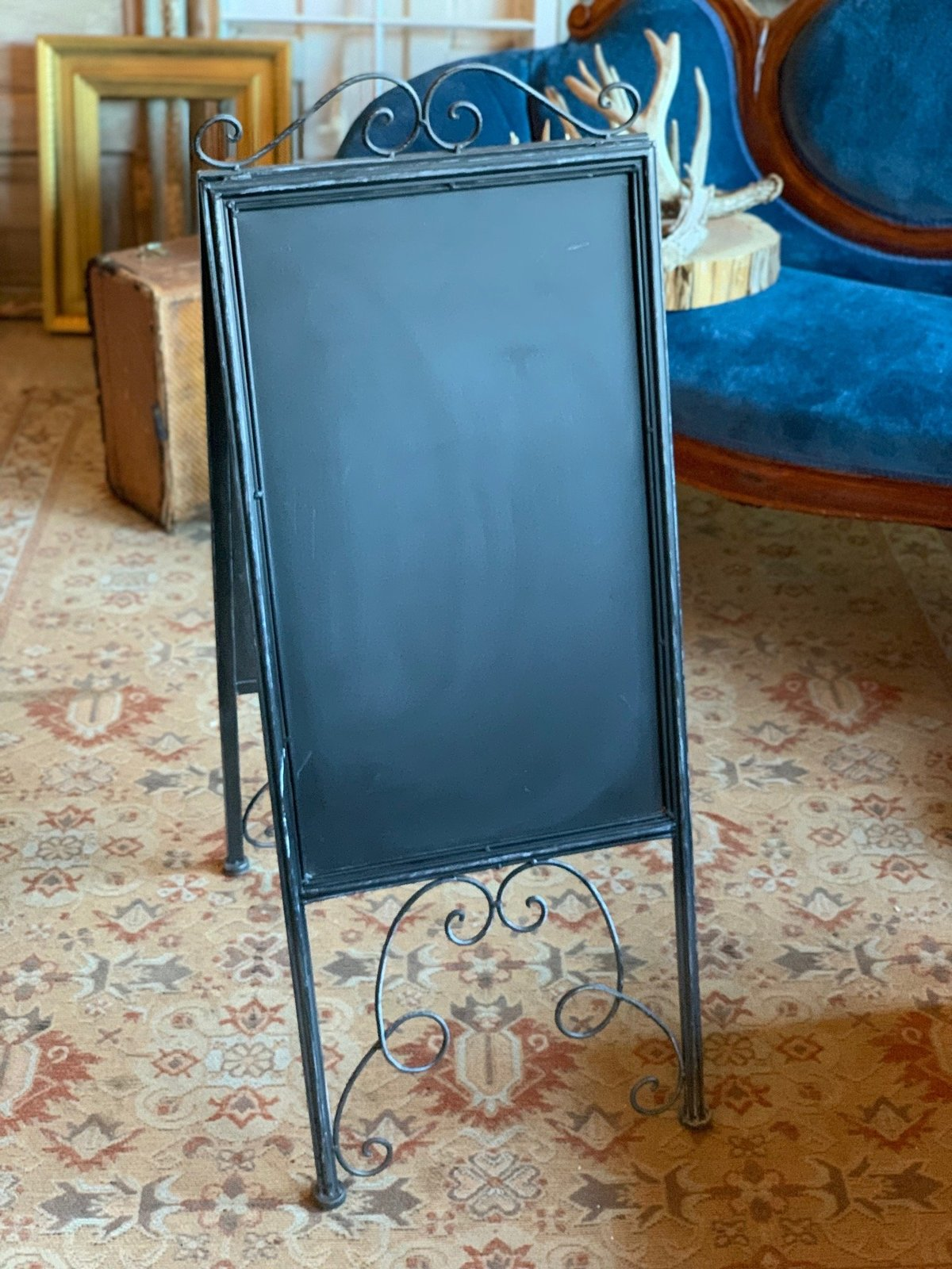 black double sided chalkboard
